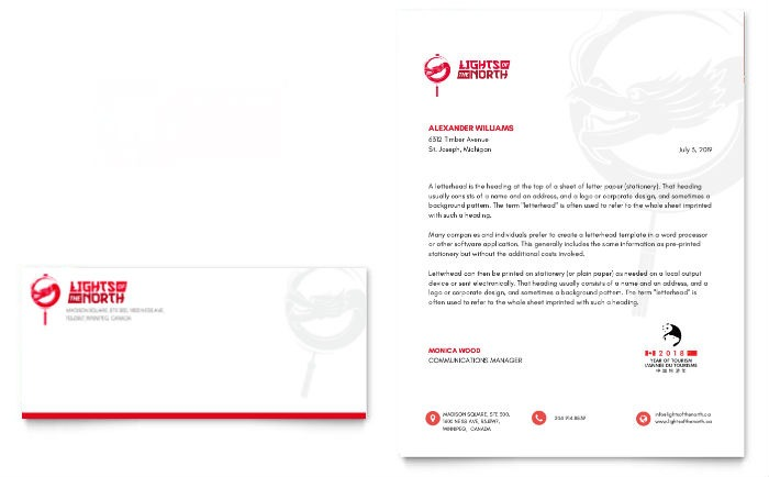 Lights of The North Letterhead